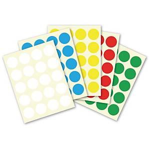 Etiquetas de colores para escritura manual