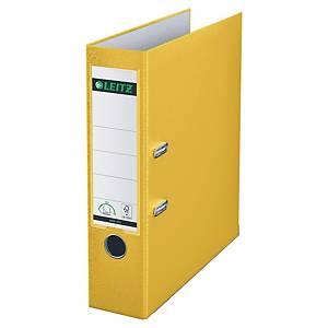 Ordner Leitz 1010, PP-kaschiert, A4, Rückenbreite 80mm, gelb