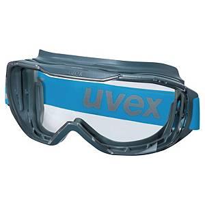 Skyddsglasögon Uvex Megasonic, korgglasögon, antracitgrå/blå
