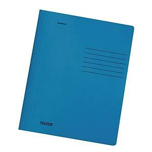 Farde à glissière manilla bleu A4, le paquet de 25