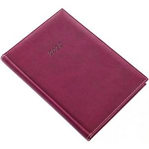 Bolero napi határidőnapló A5 - padlizsán, 14,5 x 20,5 cm, 352 oldal
