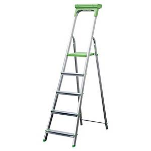 Escalera de aluminio - 5 peldaños antideslizantes - auminio