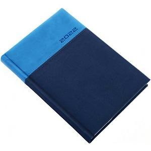 LUX DAILY DIARY A5 14.5X20.5CM BLUE