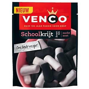 Venco drop schoolkrijt, zak van 210 g