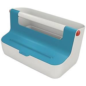 Cassetta portaoggetti Leitz Cosy con maniglia blu calmo