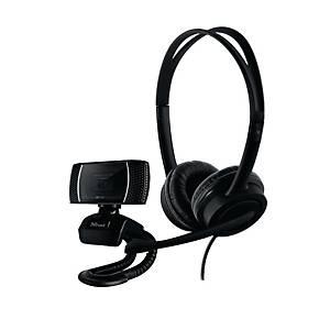 Set Home Office 2in1 Trust Doba 24036 webcam HD e cuffia con cavo USB