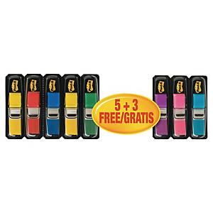 Post-it® Index Klebezettel zum Markieren 5 + 3 gratis, 11,9 x 43,1 mm, Farbenmix