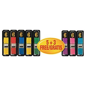 Indexové záložky Post-it® 5+3 zadarmo, 11,9 x 43,1 mm, mix farieb