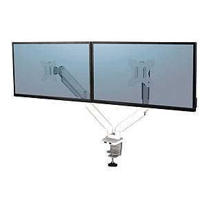 Braccio monitor Fellowes Platinum Series doppio bianco