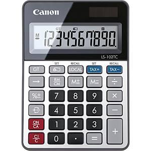 Calculatrice de table Casio LS-102TC, 10 chiffres, grise