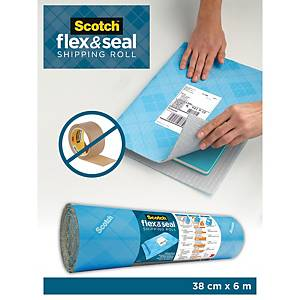 Scotch Flex and Seal Shipping and Packaging Roll, 38cm x 6m, FS1520-6-EU