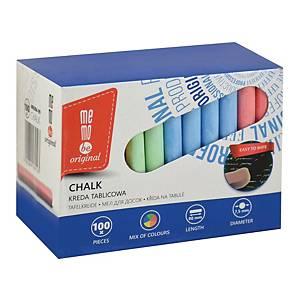 Kreda tablicowa MEMOBE kolorowa, 100 sztuk