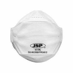 Caixa de 10 máscaras descartáveis JSP SpringFit FFP2 (421) sem válvula