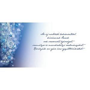 Újévi képeslap - Fenyő piros csillagokkal, 20 x 10 cm