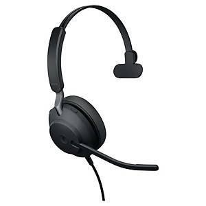 Jabra Evolve2 40 MS mono headset, zwart