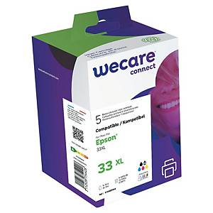 WeCare komp. Tintenp. Epson 33XL (C13T33574011), schw/fschw/c/m/gelb