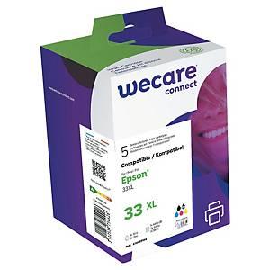 WeCare komp. inkoustová kazeta Epson 33XL (C13T33574011), č/fč/c/m/ž