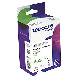 Wecare remanufactured Epson 603XL (C13T03A64010) inkt cartridge, zwart/3 kleuren