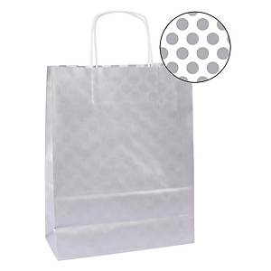 Pack de 50 bolsas Kraft Apli Paper - 18 x 8 x 21 cm - blanco