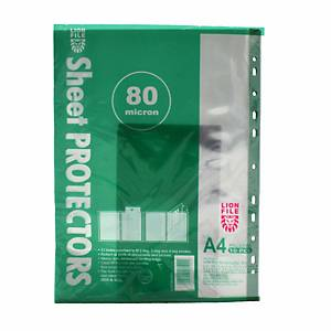 Lion File Clear A4 Sheet Protector 0.08mm - Pack of 10