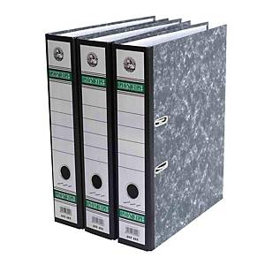 Lion File Lever Arch File F4 2  Black Marble