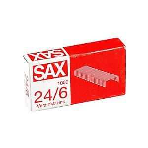 Drátky do sešívaček Sax 24/6, galvanizované, 1000 ks