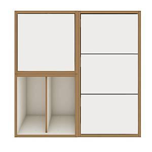 Bisey Bob Petite étagère de bureau, L80 x P38 x H80 cm, blanc