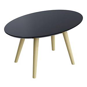 Table basse Paperflow Scandi, H35 x L85 x P50cm, noir de table