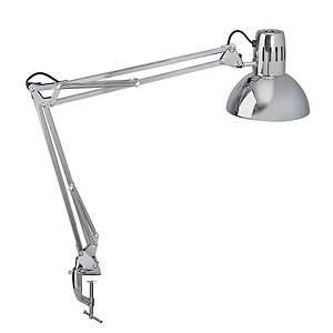 Lampe de table LED Maul Study, avec socle à pince, gris