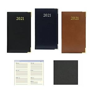 Luxe 63CF Diary Two Pages/Week Black