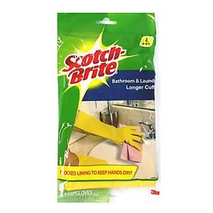 3M Scotch-Brite Bathroom Gloves - Size L