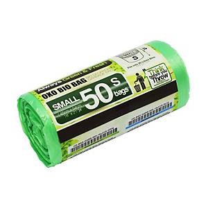 Cleanguard OXO Biodegrable Garbage Bag Small Green - Roll of 50