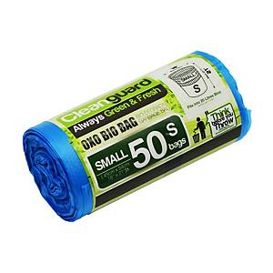 Cleanguard OXO Biodegrable Garbage Bag Small Blue - Roll of 50
