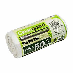 Cleanguard OXO Biodegrable Garbage Bag Small White - Roll of 50