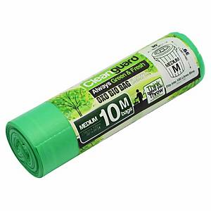 Cleanguard OXO Biodegrable Garbage Bag Medium Green - Roll of 10