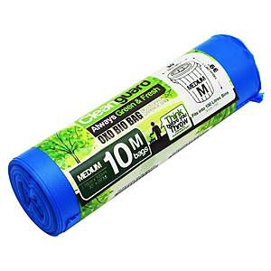 Cleanguard OXO Biodegrable Garbage Bag Medium Blue - Roll of 10
