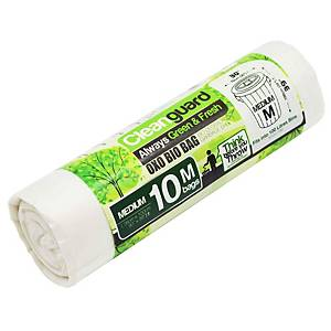 Cleanguard OXO Biodegrable Garbage Bag Medium White - Roll of 10
