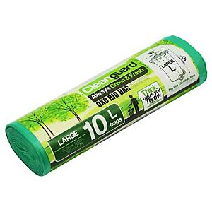 Cleanguard OXO Biodegrable Garbage Bag Large Green - Roll of 10
