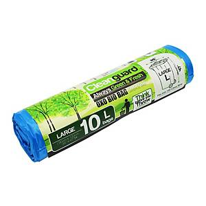 Cleanguard OXO Biodegrable Garbage Bag Large Blue - Roll of 10