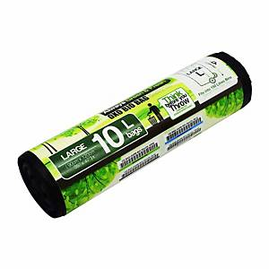 Cleanguard OXO Biodegrable Garbage Bag Large Black - Roll of 10