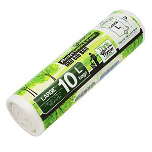 Cleanguard OXO Biodegrable Garbage Bag Large White - Roll of 10