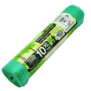 Cleanguard OXO Biodegrable Garbage Bag Extra Large Green - Roll of 10