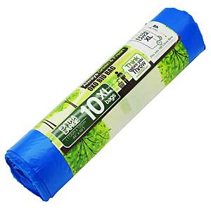 Cleanguard OXO Biodegrable Garbage Bag Extra Large Blue - Roll of 10