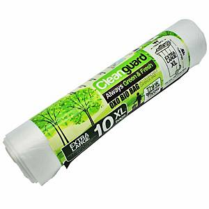 Cleanguard OXO Biodegrable Garbage Bag Extra Large White - Roll of 10