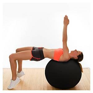 Floortex ATS-TEX Balance Sitzball ergonomisch, 65cm, schwarz