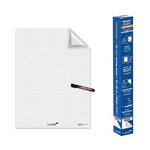 Legamaster Magic Chart whiteboard op rol, 90 x 120 cm, geruit