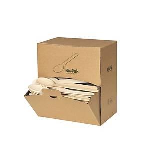Biopak koffielepel gewaxt hout, L 16 cm, pak van 300 lepels