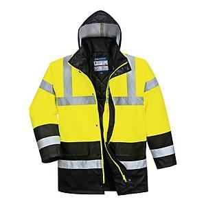 Kurtka ostrzegawcza PORTWEST S466 Traffic żółto/czarna, rozmiar M