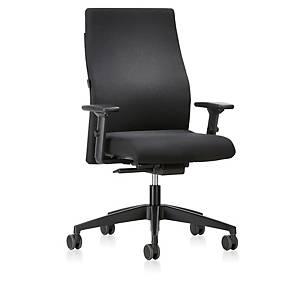 Chaise de bureau Prosedia 139RS, dossier, noir