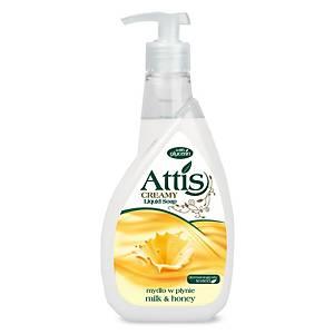 Tekuté mýdlo s pumpou Attis Med a mléko, 400 ml